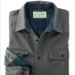 L.L. Bean men's flannel lined Hurricane button up